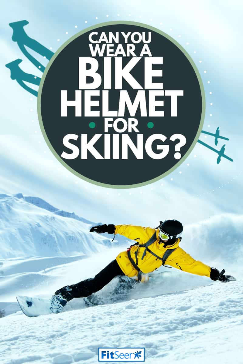 A male skier riding on a sloped mountain and doing tricks, Can You Wear A Bike Helmet For Skiing?