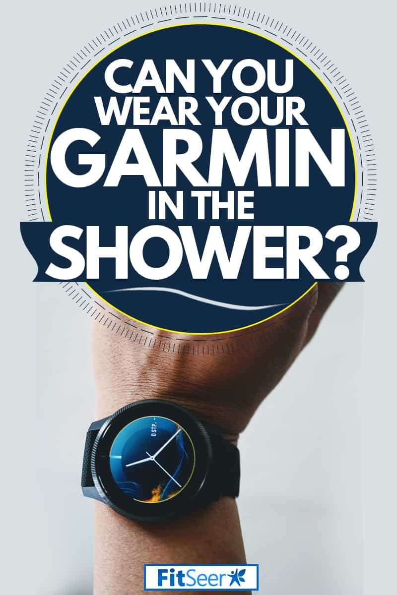 A man wearing his Garmin sports watch and taking a bath, Can You Wear Your Garmin In The Shower?