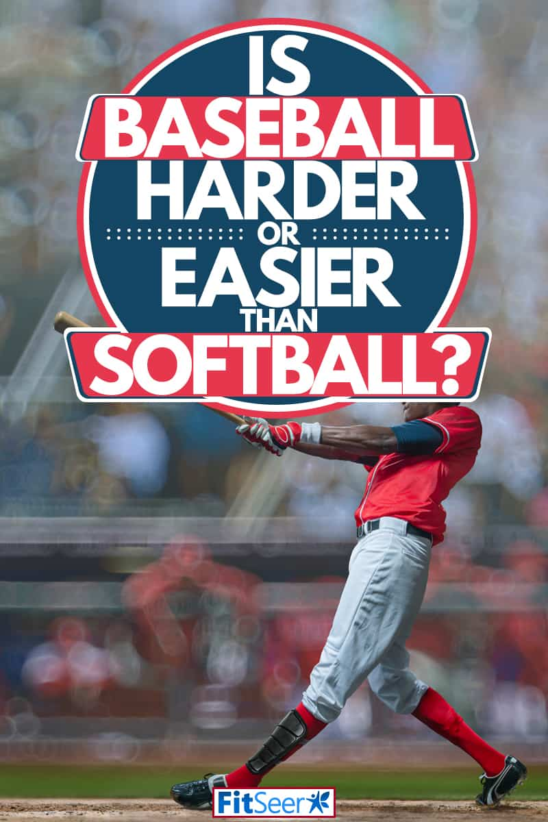 A baseball player photographed after hitting the ball at high speeds, Is Baseball Harder Or Easier Than Softball?