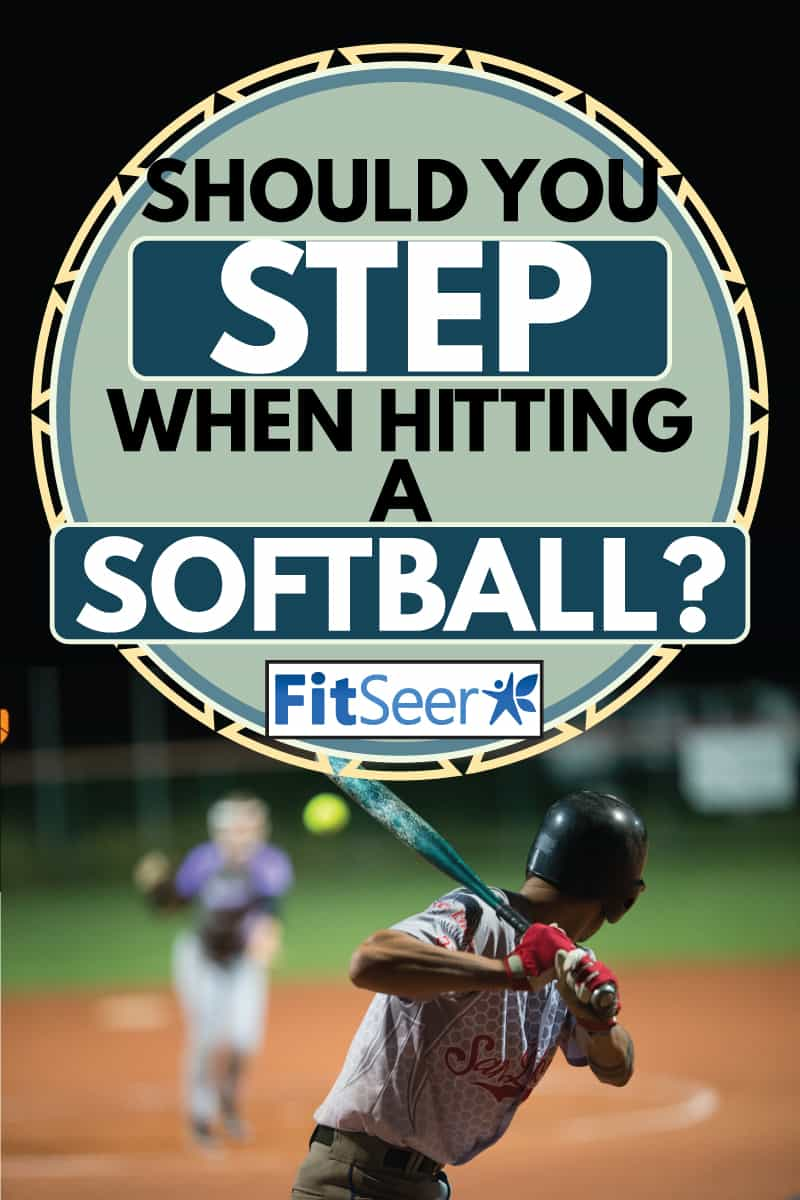 Rear View of a Softball Batter Preparing to Hit the Ball Mid Air, should you step when hitting a softball