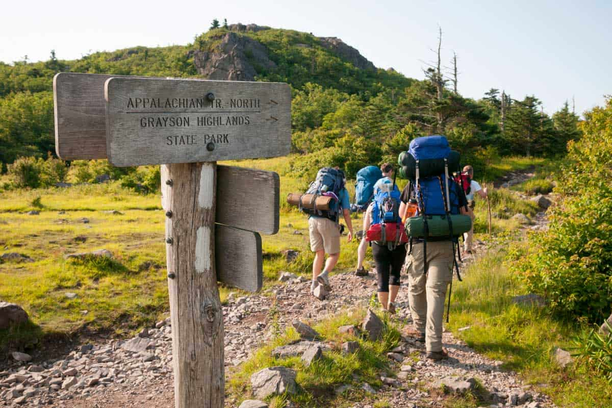 A group of friends begin a three-day hike on the Appalachian Trail, starting in Grayson Highlands State Park at Elk Garden, on Highway 600, Is Hiking The Appalachian Trail Hard?
