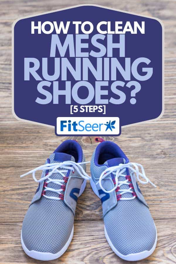 Pair of light breathable summer shoes on natural wooden board surface, How To Clean Mesh Running Shoes? [5 Steps]