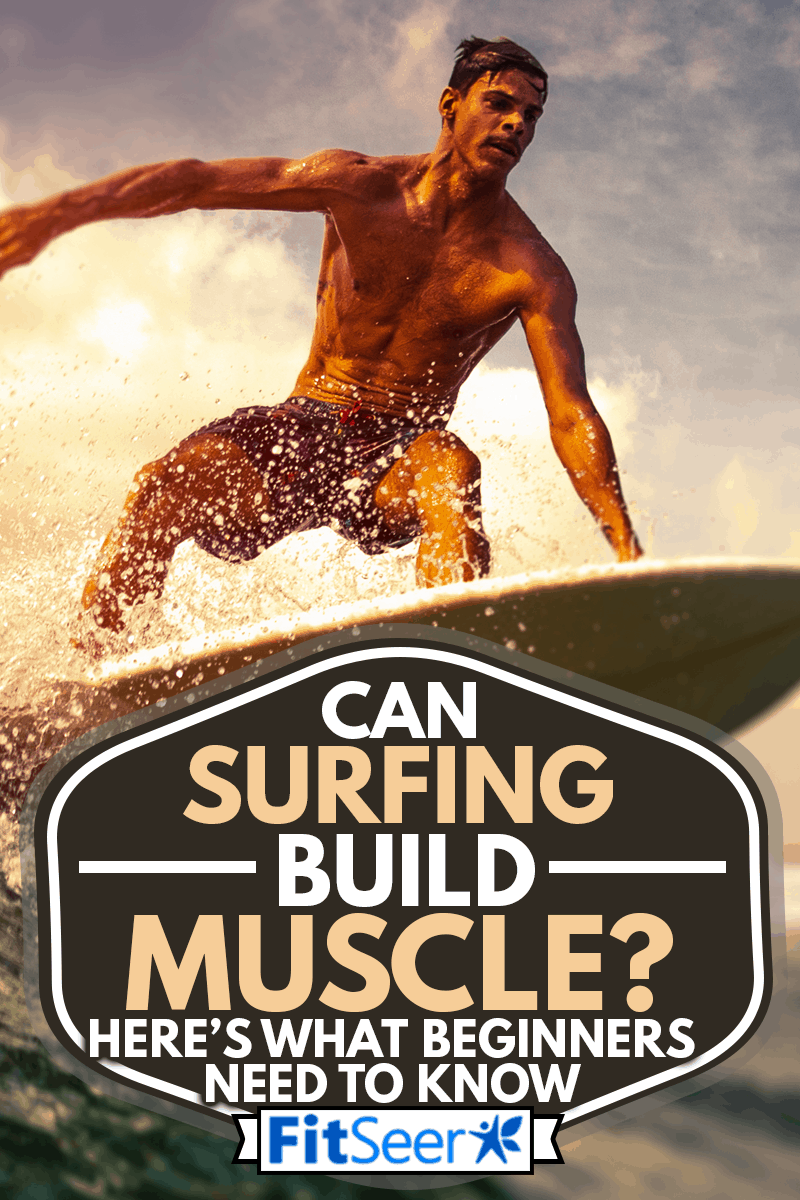 Surfer rides ocean wave in tropics, Can Surfing Build Muscle? Here's What Beginners Need to Know