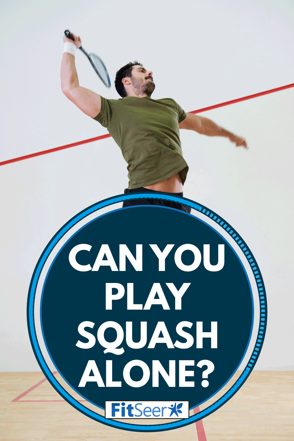 Male player jumping to hit a ball during squash match, Can You Play Squash Alone?
