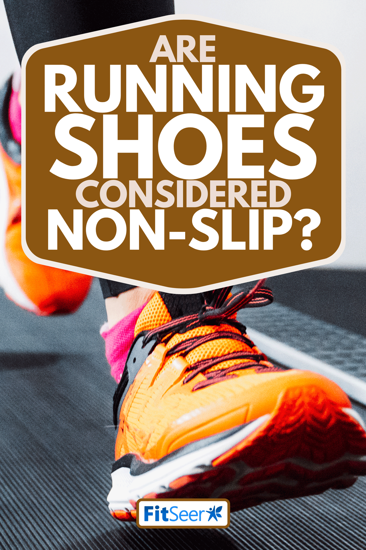 A person jogging on a treadmill in fitness center, Are Running Shoes Considered Non-slip?