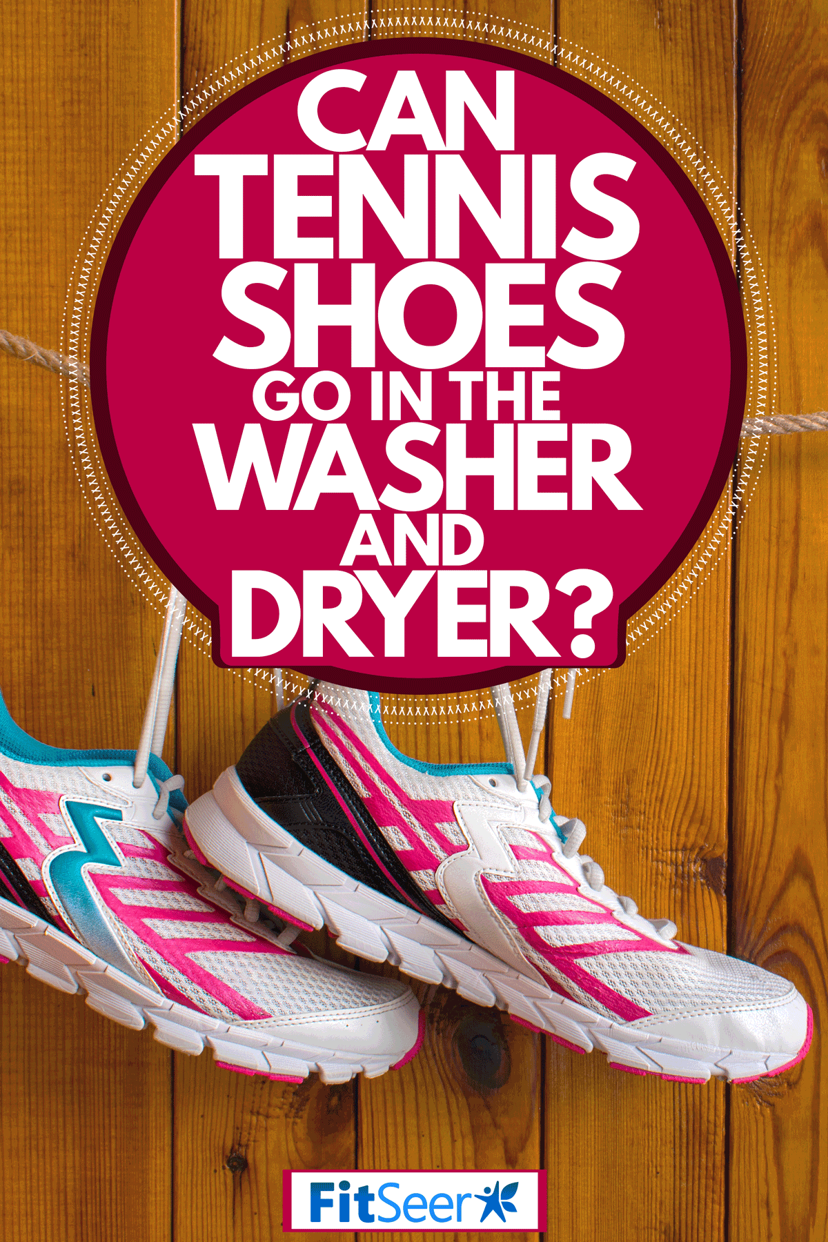 Newly washed tennis shoes hanged outside to dry, Can Tennis Shoes Go In The Washer And Dryer?