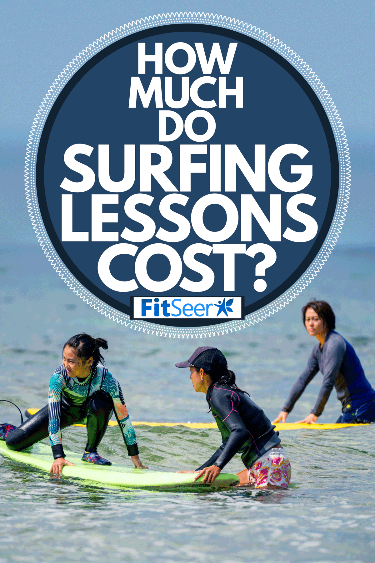 A young female taking surfing lessons, How Much Do Surfing Lessons Cost?