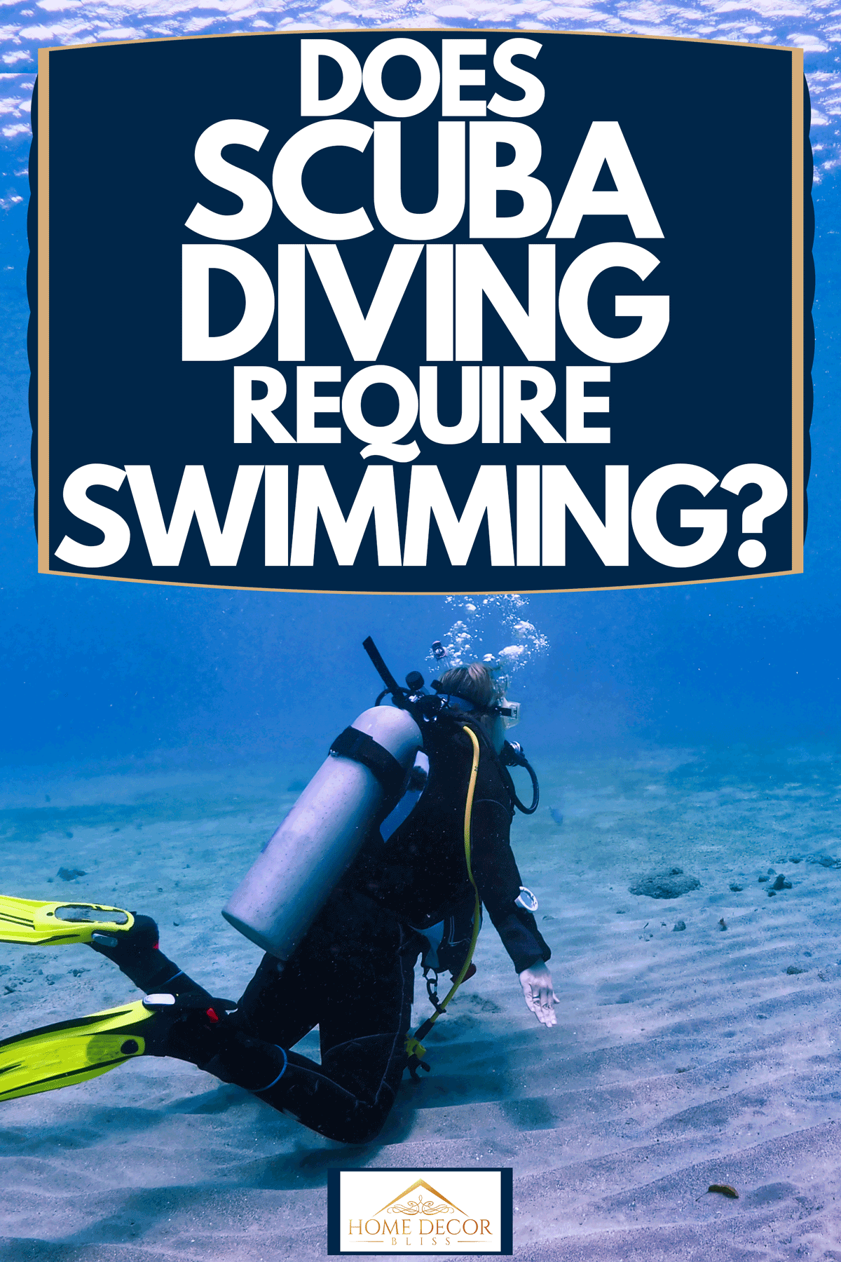A scuba diver on the sea floor and spectating a sea turtle from afar, Does Scuba Diving Require Swimming?