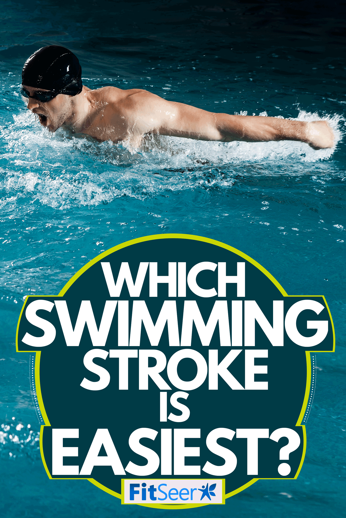 A pro swimmer doing a butterfly stroke on an Olympic swimming pool, Which Swimming Stroke Is Easiest?