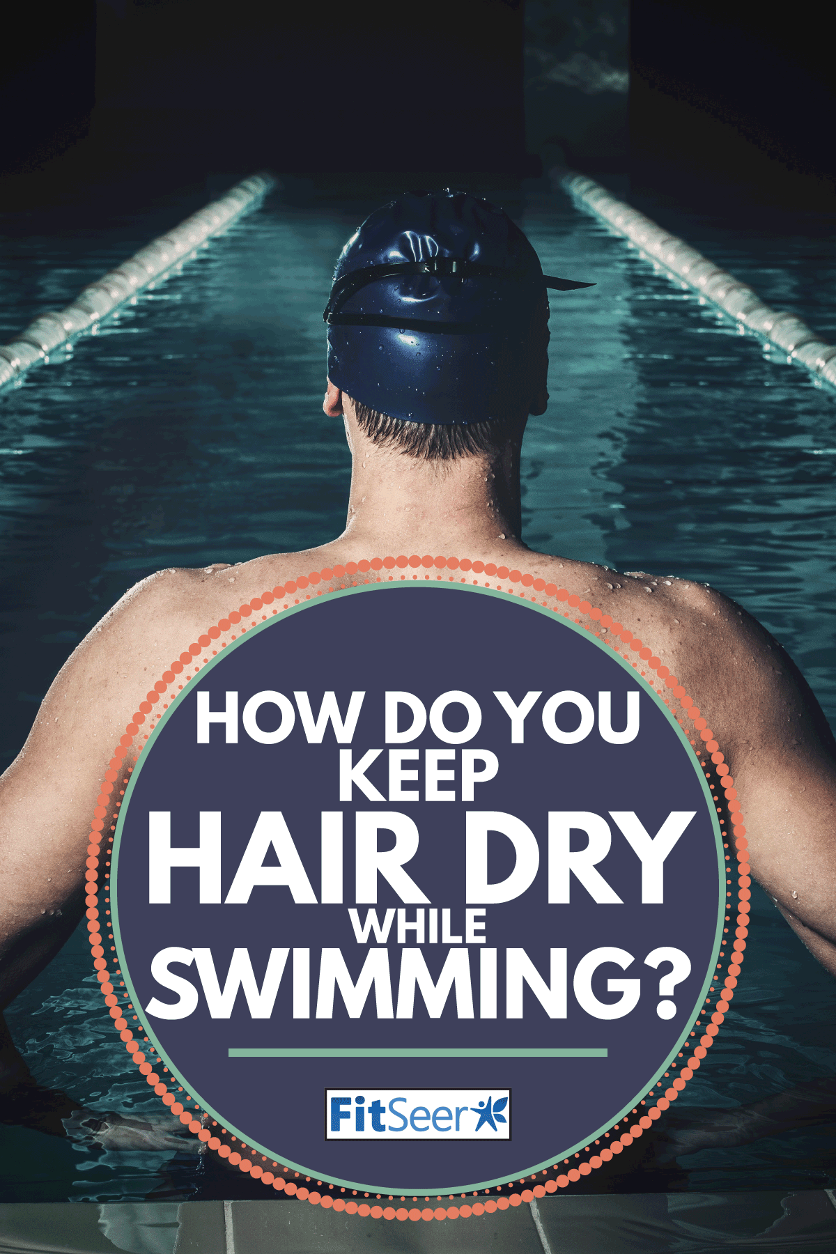 Muscular swimmer in a swimming pool. How Do You Keep Hair Dry While Swimming