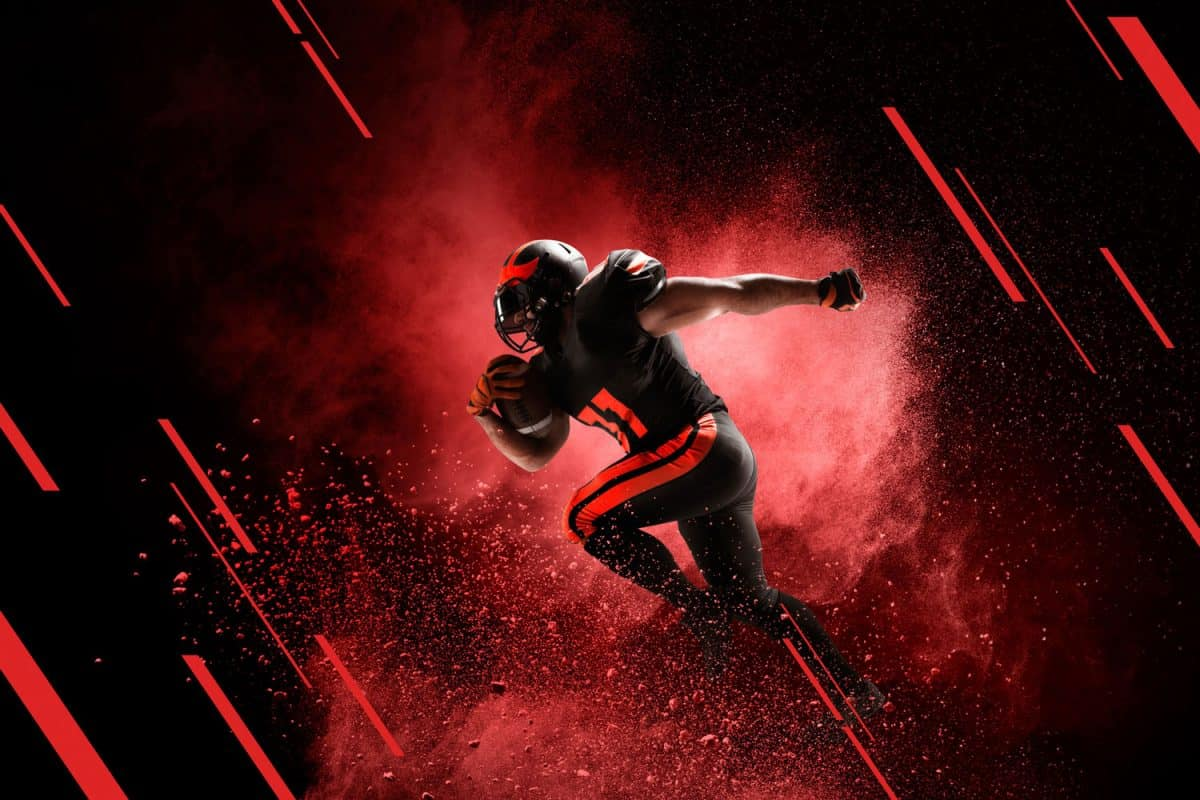 American football player, running concept, How Fast Can A Football Player Run?