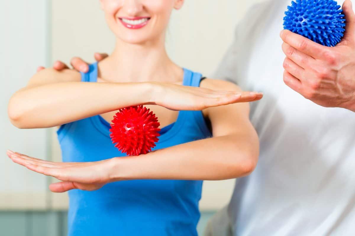 Woman holding a Massage Ball
