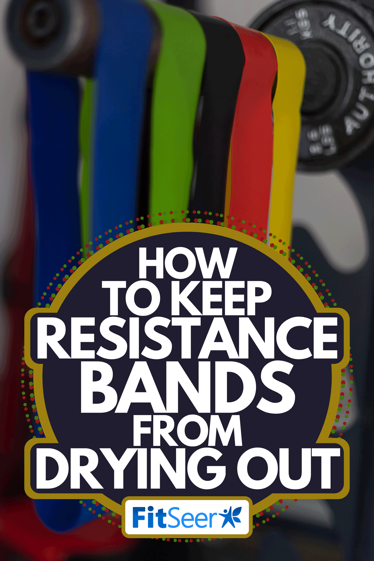 An exercise resistance bands hanging on long bar, How To Keep Resistance Bands From Drying Out