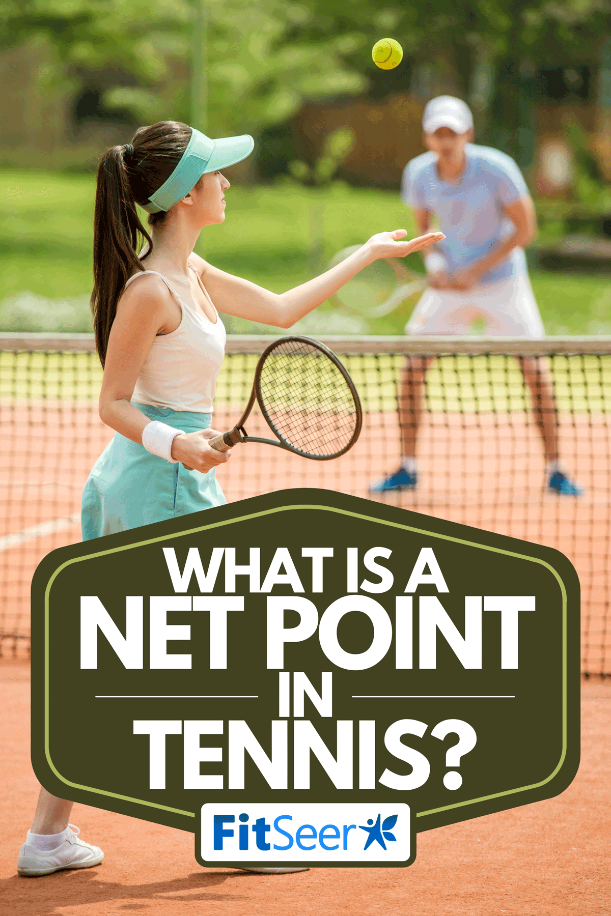 A tennis players playing a match on the court, What Is A Net Point In Tennis?